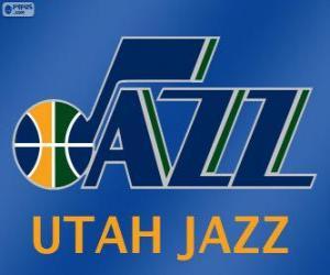 Puzle Logo Utah Jazz, equipe da NBA. Divisão Noroeste,ConferênciaOeste