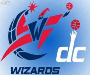 Puzle Logo Washington Wizards, time da NBA. Divisão Sudeste,ConferênciaLeste