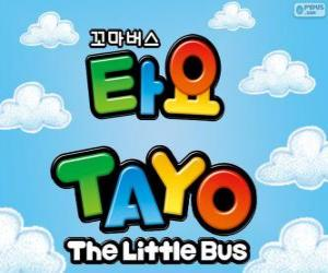 Puzle Logotipo da TAYO o pequeno autocarro