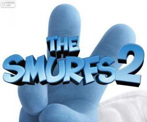 Puzle Logotipo do filme Os Smurfs 2, The Smurfs 2