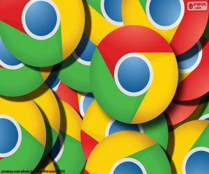 Puzle Logotipo do Google Chrome