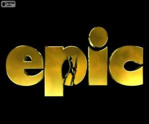 Puzle Logotipo do Reino Escondido. Epic