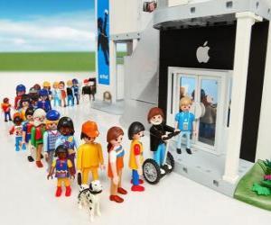 Puzle Loja Apple Playmobil