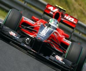 Puzle Lucas di Grassi - Virgin - Grande Prêmio da Hungria 2010
