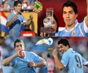 Puzle Luis Suarez melhor jogador da Copa América 2011