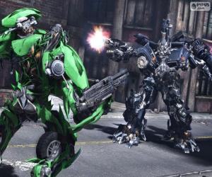 Puzle Luta entre dois Transformers