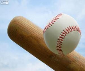 Puzle Luva e taco e bola de beisebol