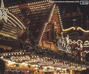 Puzle Luzes do mercado de Natal