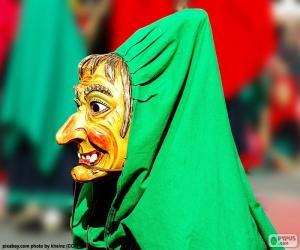 Puzle Máscara de bruxa