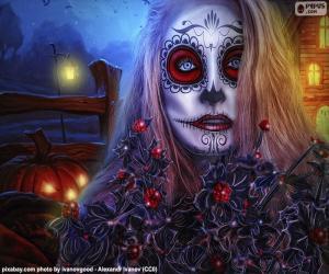 Puzle Máscara gótica de Halloween