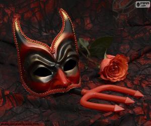 Puzle Máscara misteriosa de Carnaval