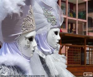 Puzle Máscaras brancas