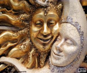 Puzle Máscaras do sol e da lua