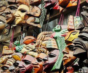 Puzle Máscaras Maya