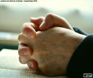 Puzle Mãos a rezar