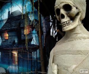 Puzle Múmia e casa assombrada