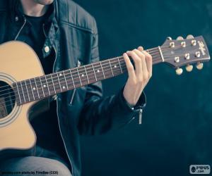 Puzle Músico tocando guitarra