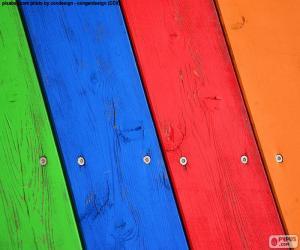 Puzle Madeiras de várias cores