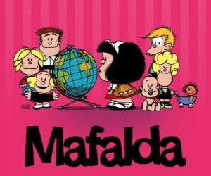Puzle Mafalda e os amigos