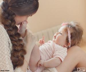 Puzle Mamãe e seu bebê