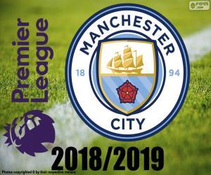 Puzle Manchester City, campeão 2018 / 19