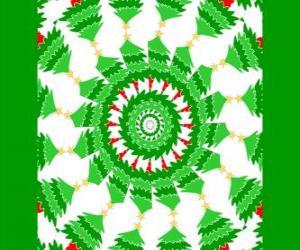 Puzle Mandala com decorações de Natal