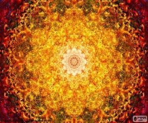 Puzle Mandala de flor da vida