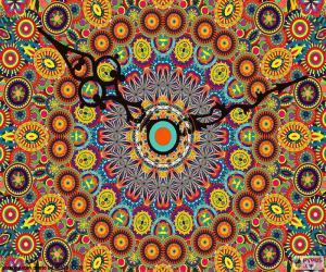 Puzle Mandala, relógio