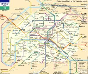 Puzle Mapa do metrô de Paris