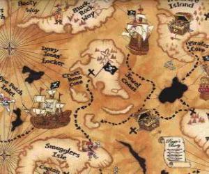 Puzle Mapa do tesouro