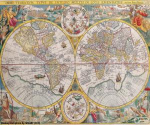Puzle Mapa histórico do mundo