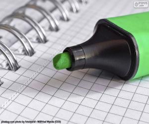 Puzle Marcador verde
