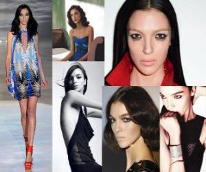 Puzle Mariacarla Boscono é um modelo italiano