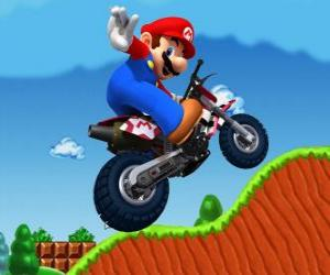 Puzle Mario Bros em uma motocicleta