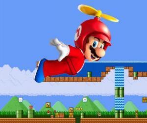 Puzle Mario voar com o casco com a hélice
