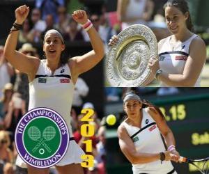 Puzle Marion Bartoli campeã do Wimbledon 2013