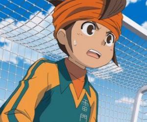 Puzle Mark Evans, Satorou Endo ou Mamoru Endo, o goleiro da equipe de futebol da Escola Raimon e principal protagonista da série de Inazuma Eleven