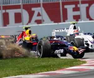 Puzle Mark Webber pilota seu F1