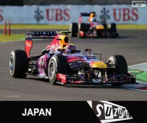 Puzle Mark Webber - Red Bull - GP do Japão 2013, 2º classificado
