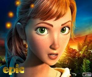 Puzle Mary Katherine, uma adolescente que vive aventuras em um mundo fantástico