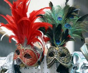 Puzle Máscaras do carnaval