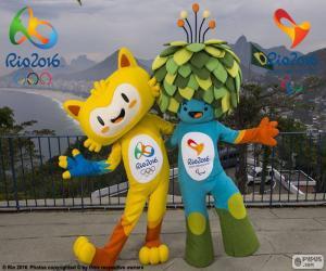 Puzle Mascotes Olímpicos de Rio 2016