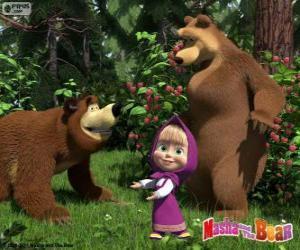 Puzle Masha com os dois ursos