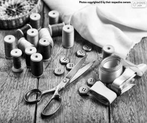 Puzle Materiais de costura