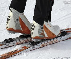 Puzle Material esqui de fundo