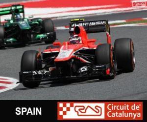Puzle Max Chilton - Marussia - Circuit de Catalunya, Barcelona, 2013