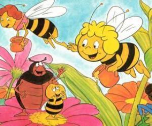 Puzle Maya viajou juntamente com a professora Cassandra levar um pote de mel de cada um, enquanto Wili cumprimentar seus amigos e Kurt