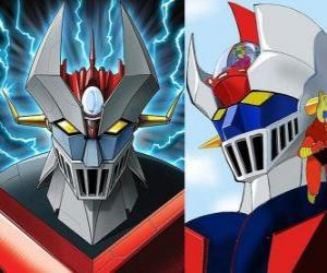 Puzle Mazinger Z, as imagens do chefe da Super Robot