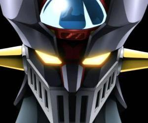 Puzle Mazinger Z, cabeça do gigantesco Super Robot, principal protagonista das aventuras do mangá da série Mazinger Z