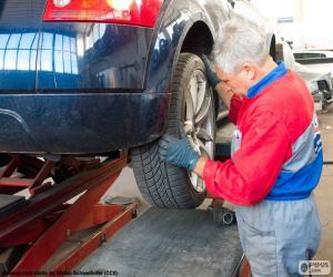 Puzle Mecânico de automóveis